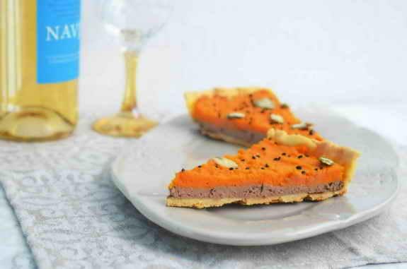 тарт с печенью и морковью