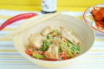 Стир-фрай с курицей и зимними овощами