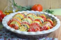 Тиан из кабачков и помидоров (tian)