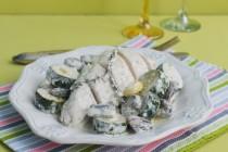 Куриная грудка с грибами и сливочным соусом