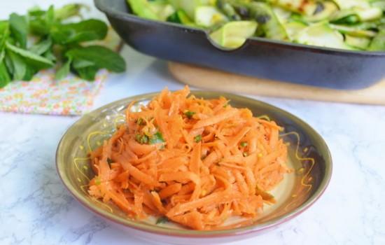 Морковный салат с мятой