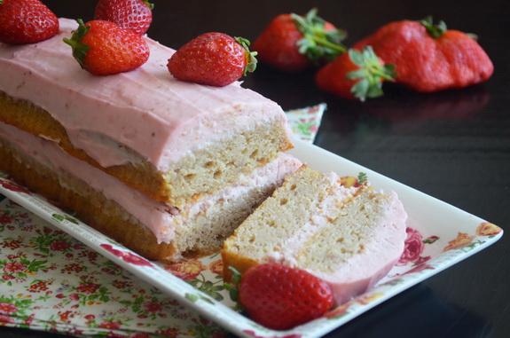 простой клубничный торт