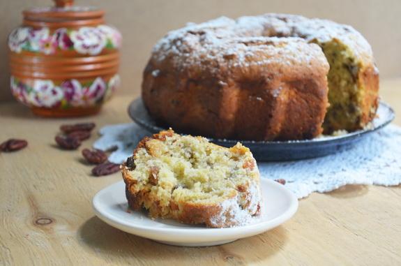 ореховый кекс с кабачком