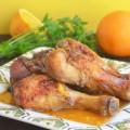 куриные голени с апельсином и чесноком