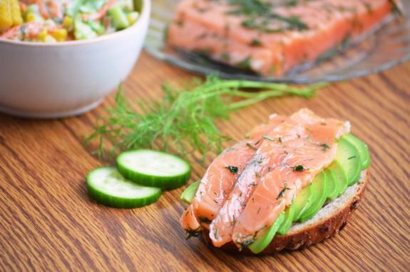 гравлакс или малосольный лосось по-шведски