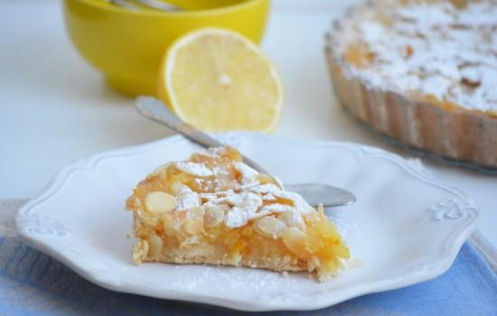Лимонный пирог с миндалем
