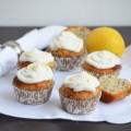 лимонные маффины с семенами чиа