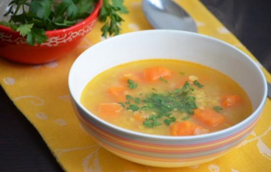Чечевичный суп с бататом