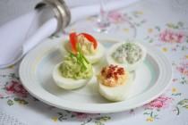 Фаршированные яйца в 4 вариантах