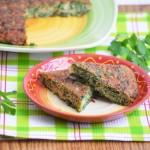 куку сабзи - персидский омлет с зеленью