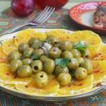 салат с апельсинами и оливками по-мароккански