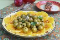 Марокканский салат с оливками и апельсинами
