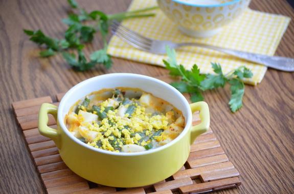 спаржевая фасоль в яичном соусе