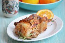 Цыпленок или курица с апельсином и розмарином