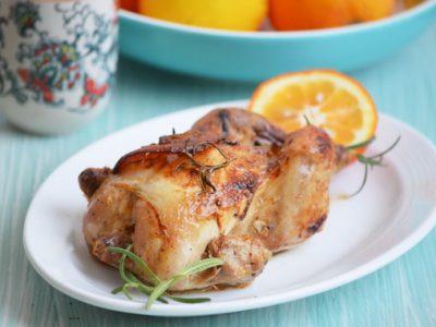 цыпленок c апельсином и розмарином