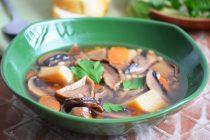 Грибной суп с птитим