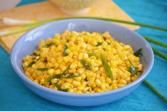 Кукуруза гарнирная с зеленым луком